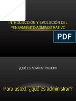 1. Evolucion Del Pensamiento Administrativo