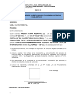 DECLARACION JURADA GESTOR