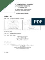 Provisional Conference Program (Bucharest 2016)