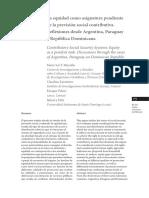 La equidad como asignatura pendiente de la previsión social contributiva. Reflexiones desde Argentina, Paraguay y República Dominicana