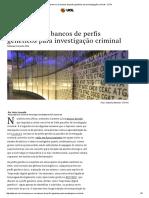 Supremo e Os Bancos de Perfis Genéticos Para Investigação Criminal - JOTA