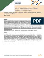 Las Politicas de Tutoria en La Educacion Superior. Genesis Trayectorias e Impactos en Argentina y Mexico Capelari RELEC