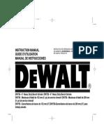 Manual Esmeril Dewalt 758