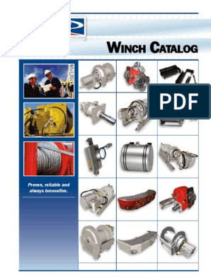 Winch Catalog pdf | Clutch | Gear