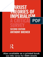 Brewer, Marxist Theories of Imperialism
