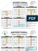2016-2017 iron county school district calendar super high quality
