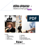 Justin Bieber My World 2.0 Full Lyrics
