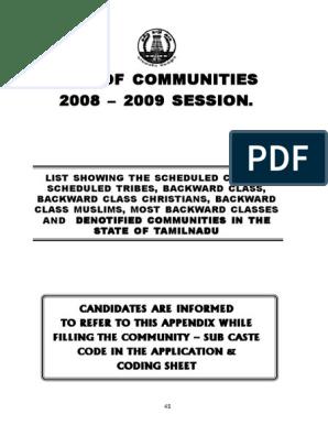List of Communities