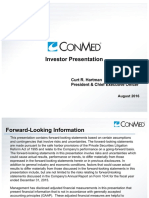 Conmed Investor Presentation - 2016.08.11