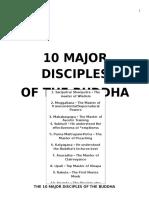 10 Major Disciples of the Buddha