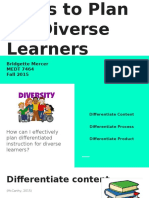 ways to plan for diverse learners