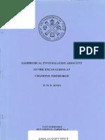 Geophysical Investigation Adjacent to the Excavations at Cramond, Edinburgh