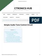 Simple Audio Tone Control Circuit