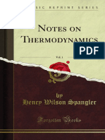 Notes on Thermodynamics