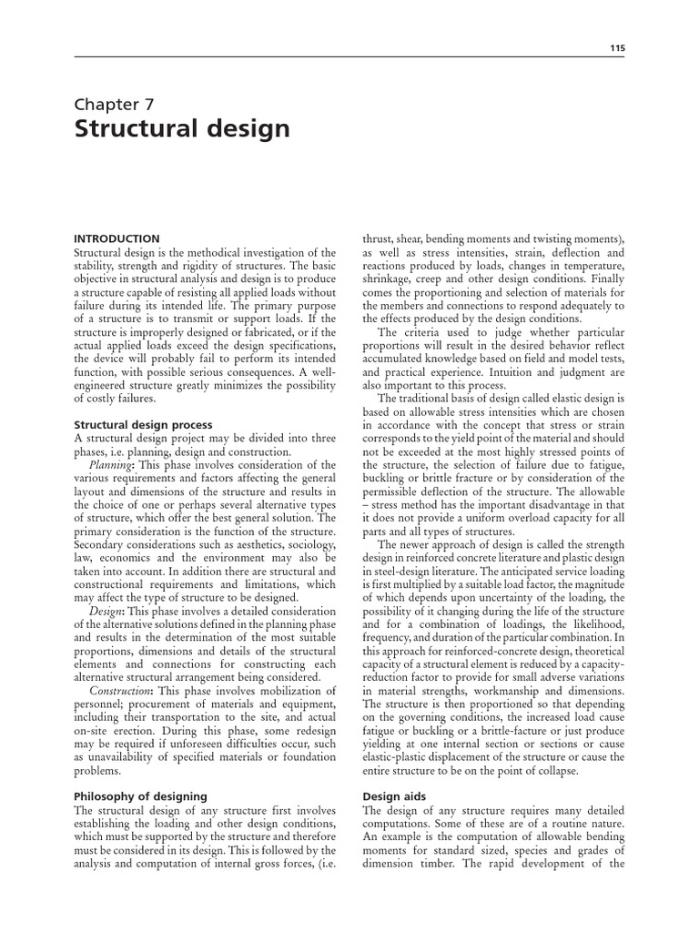 Structural Designpdf Beam Structure Bending Shear And Moment Diagram Triangular Load