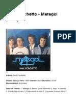 Raúl Porchetto - Metegol (1980)