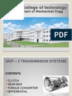 Automobile Engineering -UNIT 3:Transmission System