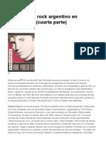 Notas Sobre Rock Argentino en Democracia (Cuarta Parte)