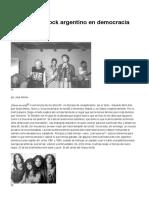 Notas Sobre Rock Argentino en Democracia (Quinta Parte)