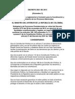 Decreto 2821 de 2013 Coordinación y Seguimiento Electoral
