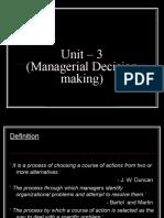 Decision Making Unit-3