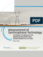 (LATEST)Advancement of Sychrophasor Technology Report March 2016