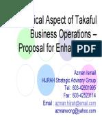 Alhuda CIBE - Technical Aspects of Takaful by Azman Ismail