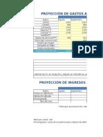 Ejemplo de un proyecto de egresos e ingresos