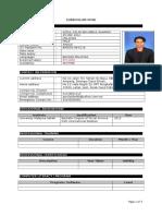 CV Sample Template