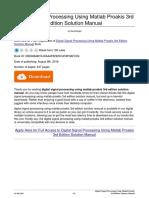 Digital Signal Processing Using Matlab Proakis 3rd Edition Solution Manual