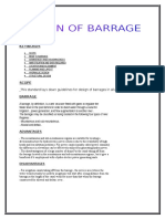 Design of Barrage