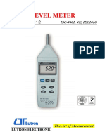 Brochure Sound Meter SL4012 Data Sheet