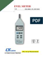 Brochure Sound Meter SL4012 Data Sheet