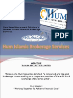 Alhuda CIBE - Hum Islamic Brokerage Services by Khalid waleed