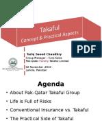 Alhuda CIBE - Takaful Concepts by Tariq Saeed Ch.