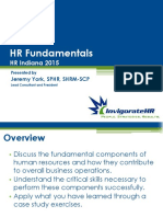 HR Fundamentals--2015 Indiana State SHRM