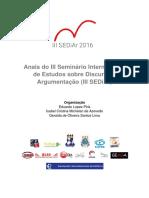 2016 - Anais III SEDiAr - Franco San Román - Ethos Cleón