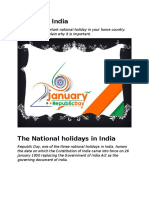 holiday in India | The National holidays in India | Republic Day in India | The Religious Festivals in India | Diwali | Holi