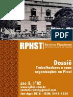 Revista Piauiense de HIstória Social e Do Trabalho. Ano II, n. 02