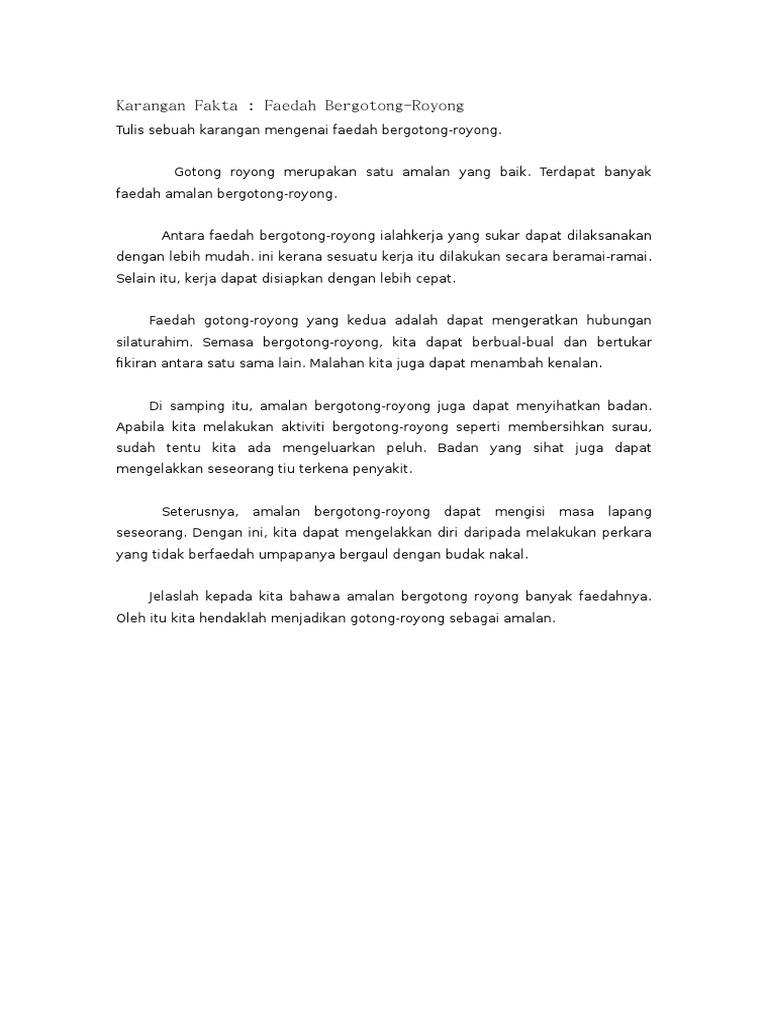 Contoh Karangan Laporan Aktiviti Gotong Royong Pt3