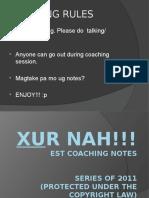 EST Coaching01 (155 Slides) [EST- XUr Nah!!!]