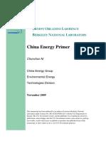 China Energy Primer - Berkeley National Laboratory (2009)
