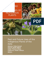 Past and Future Uses of Indigenous Plants of Aeta Community