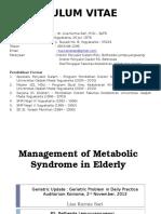 Manajemen Sindroma Metabolik Pada Lansia Lisa Baru