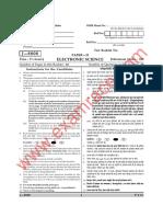 CBSE UGC NET Electronic Science Paper 2 June 2008