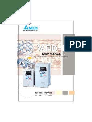 Delta Vfd B Complete User Manual 5011025710 Pdf Alternating Current Power Supply
