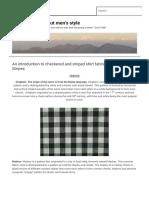 Checks and Stripes  Men's Style