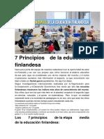 7 Principios de La Educacion de Finlandia