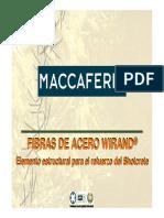 Fibras de Acero Wirand, Elemento Estructural Para El Refuerzo Del Shortcrete