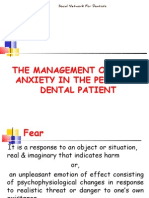 Management of Fear Anxiety Pedo